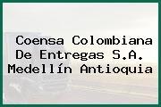 Coensa Colombiana De Entregas S.A. Medellín Antioquia