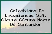 Colombiana De Encomiendas S.A. Cúcuta Cúcuta Norte De Santander