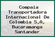 Compaia Transportadora Internacional De Colombia S.A. Bucaramanga Santander