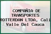 COMPAÑIA DE TRANSPORTES ROTTERDAN LTDA. Cali Valle Del Cauca