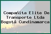 Compañita Elite De Transporte Ltda Bogotá Cundinamarca