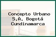 Concepto Urbano S.A. Bogotá Cundinamarca