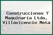 Construcciones Y Maquinaria Ltda. Villavicencio Meta
