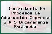 Consultoria En Procesos De Adecuación Coproces S A S Bucaramanga Santander