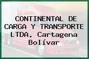 CONTINENTAL DE CARGA Y TRANSPORTE LTDA. Cartagena Bolívar