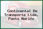 Continental De Transporte Ltda. Pasto Nariño