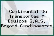 Continental De Transportes Y Equipos S.A.S. Bogotá Cundinamarca