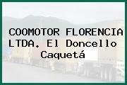 COOMOTOR FLORENCIA LTDA. El Doncello Caquetá