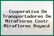 Cooperativa De Transportadores De Miraflores Cootr Miraflores Boyacá