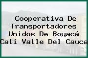 Cooperativa De Transportadores Unidos De Boyacá Cali Valle Del Cauca