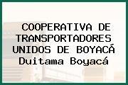 COOPERATIVA DE TRANSPORTADORES UNIDOS DE BOYACÁ Duitama Boyacá