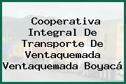Cooperativa Integral De Transporte De Ventaquemada Ventaquemada Boyacá