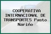COOPERATIVA INTERNACIONAL DE TRANSPORTES Pasto Nariño