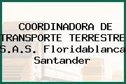 COORDINADORA DE TRANSPORTE TERRESTRE S.A.S. Floridablanca Santander
