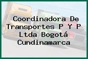 Coordinadora De Transportes P Y P Ltda Bogotá Cundinamarca