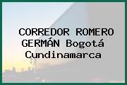 CORREDOR ROMERO GERMÁN Bogotá Cundinamarca