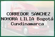 CORREDOR SANCHEZ NOHORA LILIA Bogotá Cundinamarca