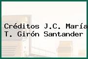 Créditos J.C. María T. Girón Santander