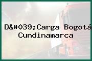D'Carga Bogotá Cundinamarca
