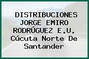 DISTRIBUCIONES JORGE EMIRO RODRÚGUEZ E.U. Cúcuta Norte De Santander