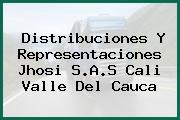 Distribuciones Y Representaciones Jhosi S.A.S Cali Valle Del Cauca