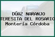 DÚAZ NARANJO TERESITA DEL ROSARIO Montería Córdoba