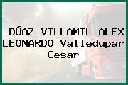 DÚAZ VILLAMIL ALEX LEONARDO Valledupar Cesar