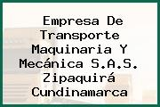 Empresa De Transporte Maquinaria Y Mecánica S.A.S. Zipaquirá Cundinamarca