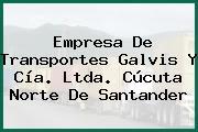 Empresa De Transportes Galvis Y Cía. Ltda. Cúcuta Norte De Santander
