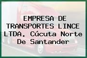 EMPRESA DE TRANSPORTES LINCE LTDA. Cúcuta Norte De Santander