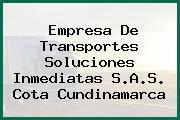 Empresa De Transportes Soluciones Inmediatas S.A.S. Cota Cundinamarca