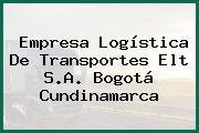 Empresa Logística De Transportes Elt S.A. Bogotá Cundinamarca