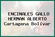ENCINALES GALLO HERMAN ALBERTO Cartagena Bolívar