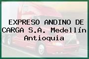 EXPRESO ANDINO DE CARGA S.A. Medellín Antioquia