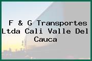 F & G Transportes Ltda Cali Valle Del Cauca