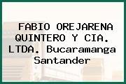 FABIO OREJARENA QUINTERO Y CIA. LTDA. Bucaramanga Santander