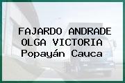 FAJARDO ANDRADE OLGA VICTORIA Popayán Cauca