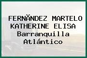 FERNÃNDEZ MARTELO KATHERINE ELISA Barranquilla Atlántico
