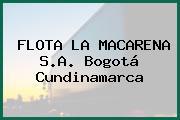 FLOTA LA MACARENA S.A. Bogotá Cundinamarca