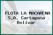 FLOTA LA MACARENA S.A. Cartagena Bolívar