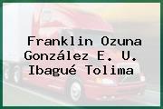 Franklin Ozuna González E. U. Ibagué Tolima