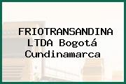 FRIOTRANSANDINA LTDA Bogotá Cundinamarca