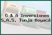 G & A Inversiones S.A.S. Tunja Boyacá