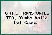G H C TRANSPORTES LTDA. Yumbo Valle Del Cauca