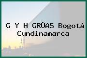 G Y H GRÚAS Bogotá Cundinamarca