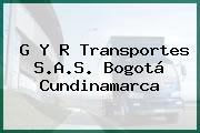 G Y R Transportes S.A.S. Bogotá Cundinamarca
