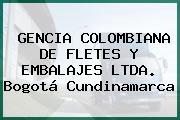 GENCIA COLOMBIANA DE FLETES Y EMBALAJES LTDA. Bogotá Cundinamarca