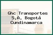 Ghc Transportes S.A. Bogotá Cundinamarca