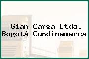 Gian Carga Ltda. Bogotá Cundinamarca