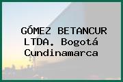 Gómez Betancur Ltda. Bogotá Cundinamarca